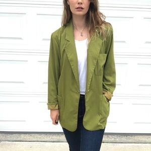 Vintage Jackets & Coats - Vintage Forenza   Light Weight Long Line Blazer